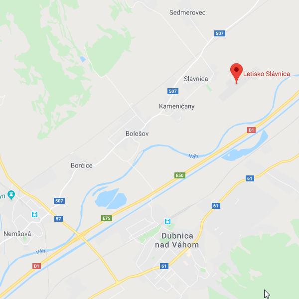 Trasa na letisko Slavnica